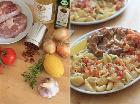 cuisine traditionnelle italienne cuisine italienne osso bucco à la tomate au thym et aux