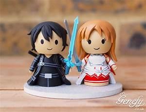 Sword Art Online wedding cake topper by Genefy Playground ...