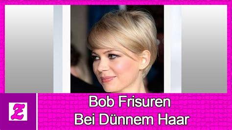 elegante bob frisuren bei duennem haar youtube