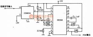 The Fsk Circuit Composed Of Me564 - Control Circuit - Circuit Diagram
