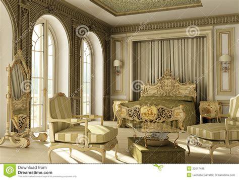 chambre a coucher luxe chambre à coucher rococo de luxe image libre de droits