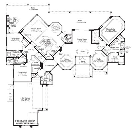 custom ranch floor plans house plan the cardiff sater design collection luxury