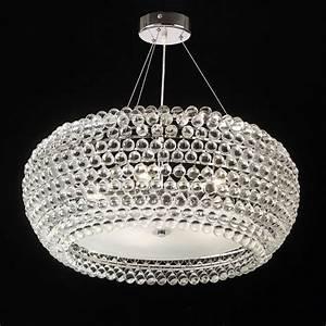 Endon lambada light chrome crystal ceiling pendant