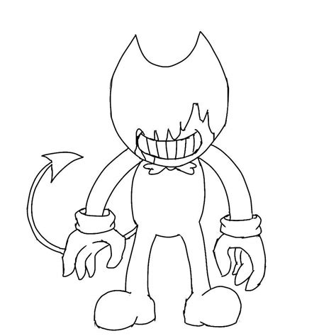 Kleurplaat And The Beast by Beast Bendy Sheet Coloring Pages