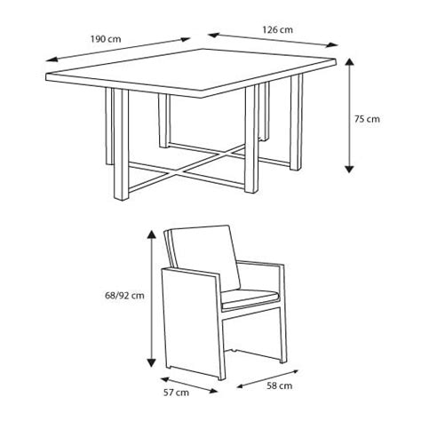 hauteur standard table a manger hauteur d une table a manger on decoration interieur moderne k 228 hres idees 500x500