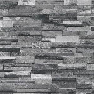 Papier Peint Fausse Pierre : p s international ardoise brique motif fausse effet pierre ~ Dailycaller-alerts.com Idées de Décoration