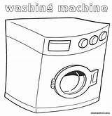 Washer Coloring Template Washing Machine Dumbbell Printable Colorings sketch template