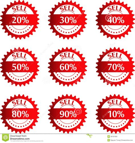 discount price tags vector stock photo image