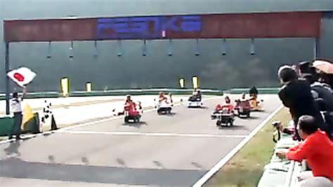 Japanese girl rides dildo machine race cars | voyeurstyle.com