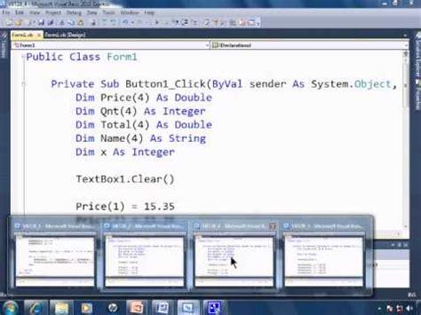 Visual Basic 2010 Express Tutorial 28  Multidimensional & Parallel Arrays Youtube