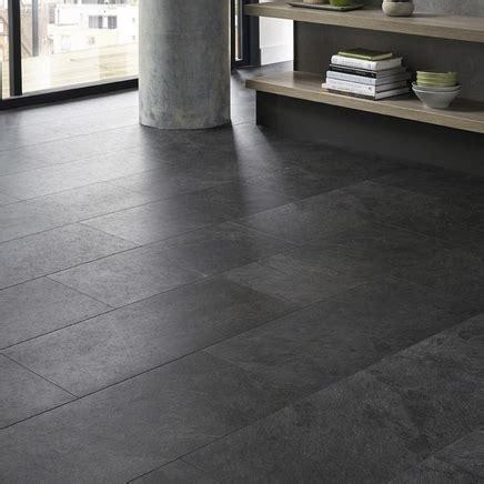 Quickstep Livyn Black Slate Vinyl Tile Flooring   Howdens