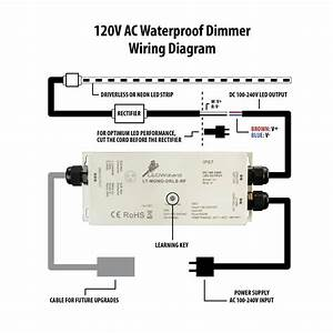 120v Ac Waterproof Dimmer Receiver
