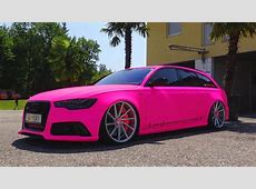 Crazy Neon Pink Audi RS6 Capristo LOUD Sound & Exhaust