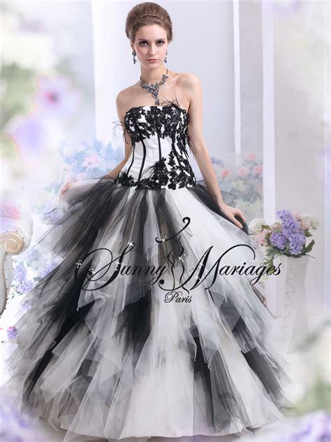 robe de mariage noir et blanche robe de mariee noir et blanc ou autres couleurs pas cher