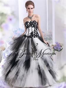 Robe De Mariée Noire : robe de mariee noir et blanc ou autres couleurs pas cher ~ Dallasstarsshop.com Idées de Décoration