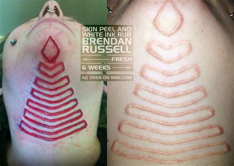 flesh removal scarification bme tattoo piercing