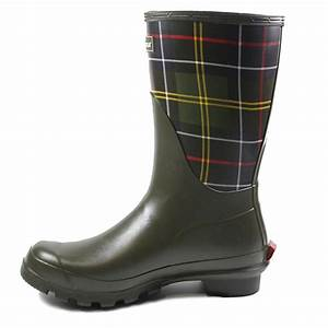 Barbour Short Classic Womens Slip On Rubber Wellington ...