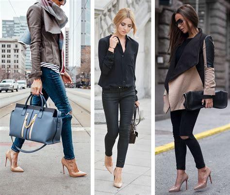 Outfits Casuales Con Jeans Y Tacones