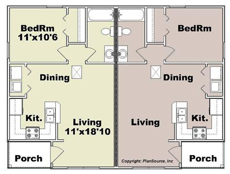 duplex plan house plans