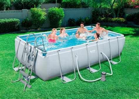 bestway set frame pool power steel xx cm