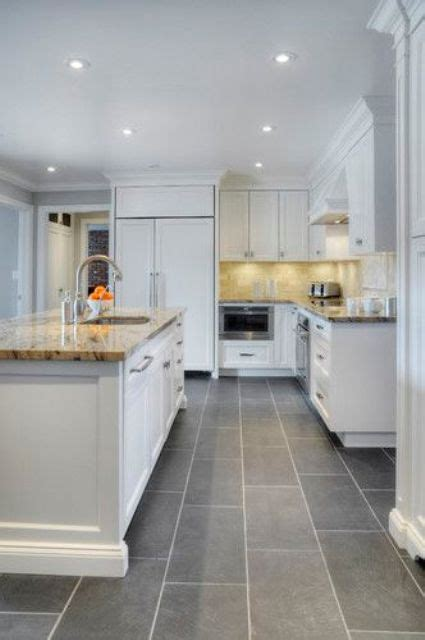 tiled kitchen floors ideas 30 tile flooring ideas with pros and cons digsdigs