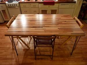 """Multi """"Scrap"""" Wood Butcher Block Dining Table - by"""