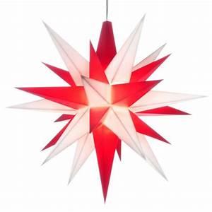Herrnhuter Stern Beleuchtung : herrnhuter adventsstern kunststoff 13 cm wei rot ~ Michelbontemps.com Haus und Dekorationen