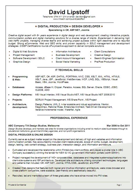 Chronological Resume Australia by Resume Exles Australia Templates How To Format Your