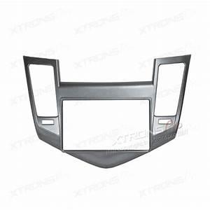 Silver Double Din Fascia Facia Adaptor Panel Surround For