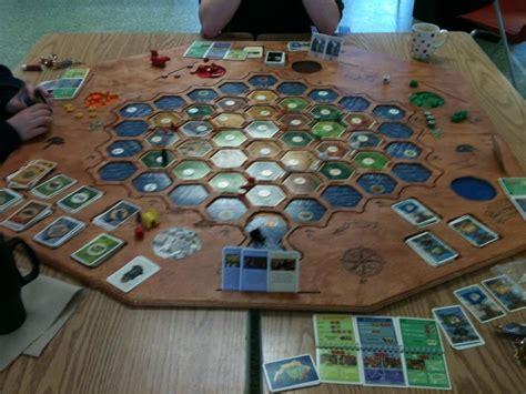 wooden settlers  catan board board games pinterest