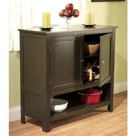 espresso buffet sideboard cabinet  bottom storage shelf