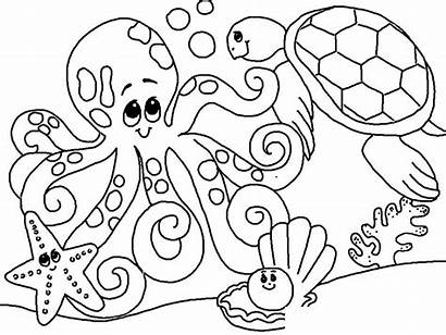 Coloring Sea Under Pages Ocean Themed Animals