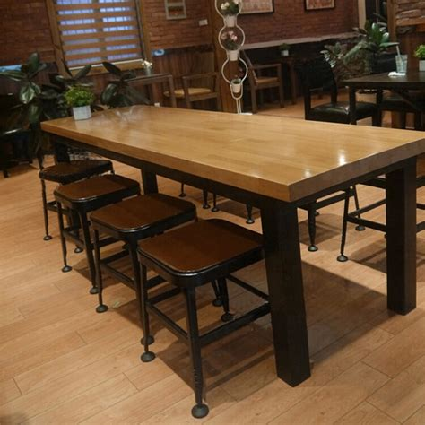 American Starbucks Iron wood tables to do the old European