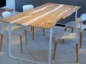 Table Resine Bois : penone design nos creations ~ Teatrodelosmanantiales.com Idées de Décoration