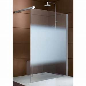 paroi de douche ouverte 6mm fixe reversible profile With porte d entrée alu avec salle de bain pour personnes à mobilité réduite