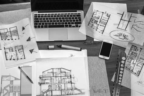 industrial style desk free picture architect work desk drawings blueprint