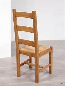 Chaise Chene Massif : chaise en ch ne massif de style campagnard assise paille meuble en ch ne massif ~ Teatrodelosmanantiales.com Idées de Décoration