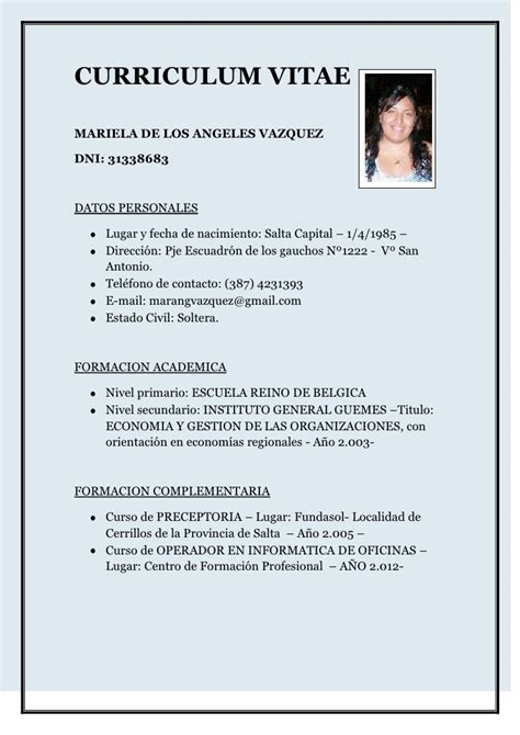 Is A Curriculum Vitae The Same As A Resume by Curriculum Vitae Mariela 1