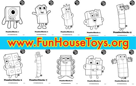 Coloring Numberblocks by For More Printables Coloring Pages Visit Www Funhousetoys