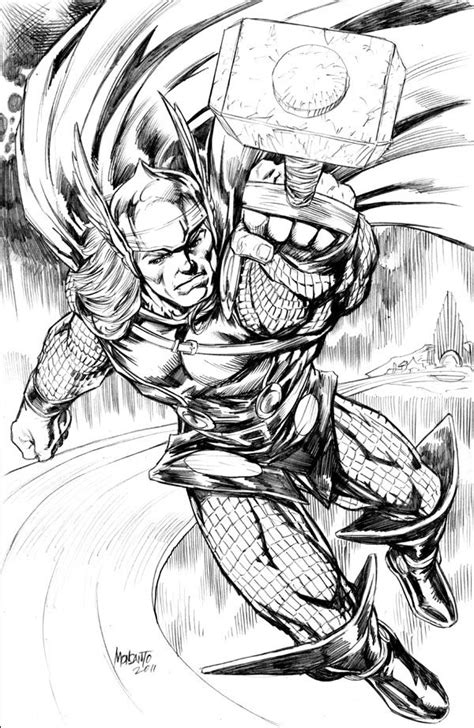 Thor pencil commission by gammaknight on DeviantArt | Thor