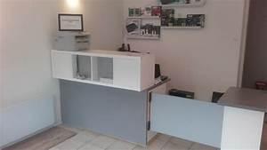 Bureau Ikea Pas Cher : comptoir d 39 accueil et bureau pas cher pour un petit commerce ~ Teatrodelosmanantiales.com Idées de Décoration