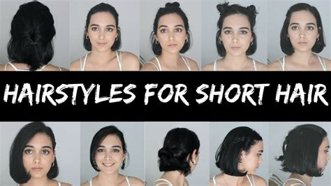 heatless hairstyles  short hair youtube