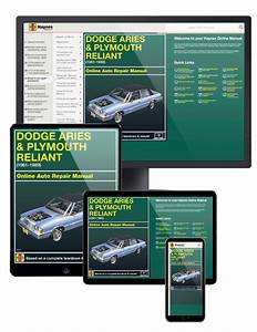 Dodge Aries  U0026 Plymouth Reliant Online Service Manual  1981