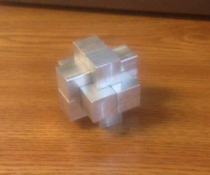aluminum burr puzzle  cnc ideas