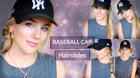 7 easy baseball cap hairstyles maria youtube