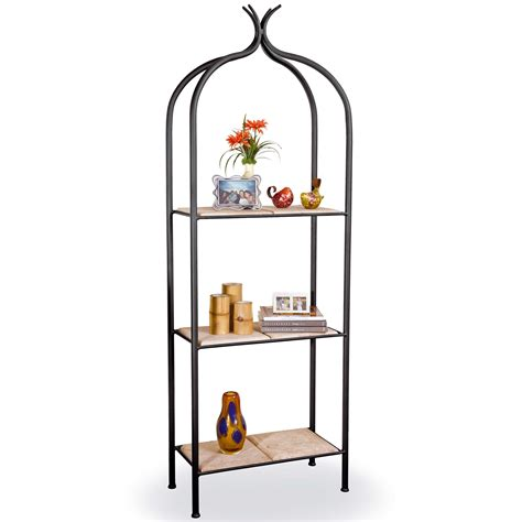wrought iron etagere pictured is our contemporary style milan iron