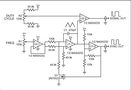simple pulse generator has low parts count application note maxim