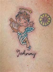 Baby angel chest tattoo - Tattooimages.biz