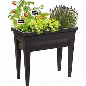 Jardiniere Sur Pied Plastique : jardiniere sur pied espace potager 57l ~ Dode.kayakingforconservation.com Idées de Décoration