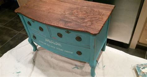 Chalk Paint And Stain-painted Dresser
